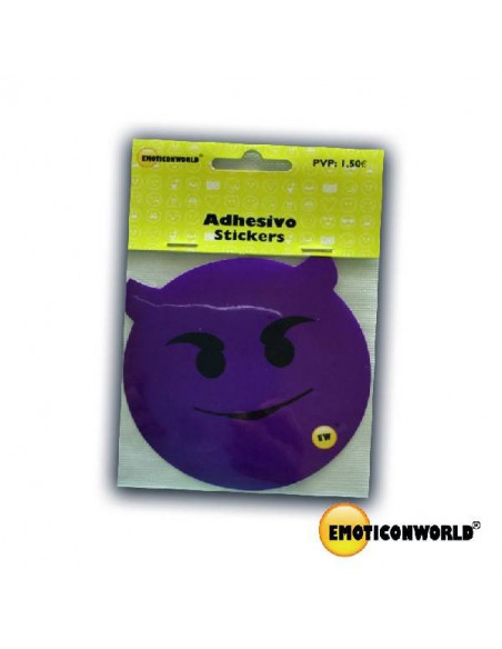 STICKER DE EMOTICONO DIABLILLO EMOTICONWORLD