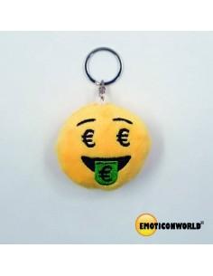 LLAVERO CON CADENA DE 5.5CM EURO