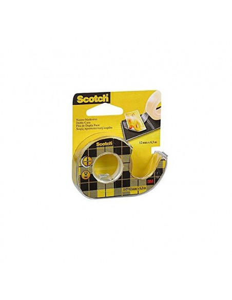 CINTA DOBLE CARA C/ PORTARROLLOS SCOTCH 6 m x 12 mm