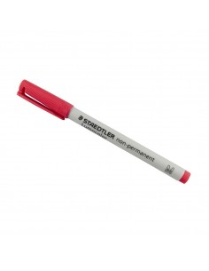 ROTULADOR LUMOCOLOR MEDIANO DE COLOR ROJO DE LA MARCA STAEDTLER APTO PARA TODAS LAS SUPERFICIES