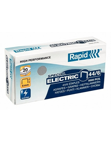 GRAPAS DE LA MARCA ESSELTE PARA GRAPADORA ELECTRICA 44/6 TAMAÑO 6MM DE LARGO RAPID