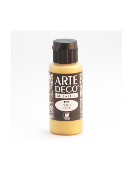 PINTURA ACRILICA ARTE DECO EN TUBO DE 60 ML IDEAL PARA BELLAS ARTES COLOR ORO
