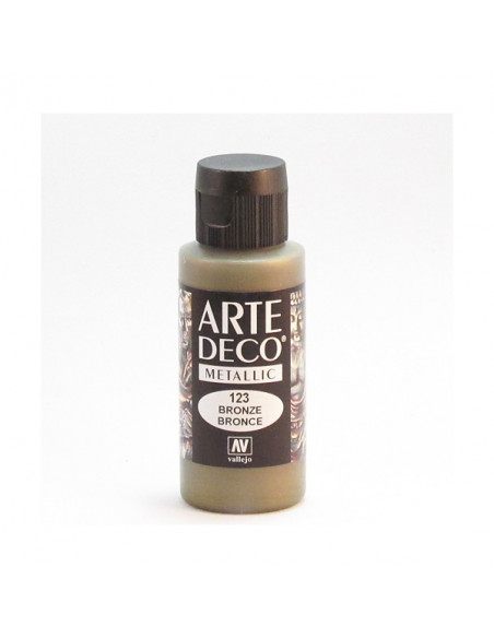 PINTURA ACRILICA ARTE DECO EN TUBO DE 60 ML IDEAL PARA BELLAS ARTES COLOR BRONCE