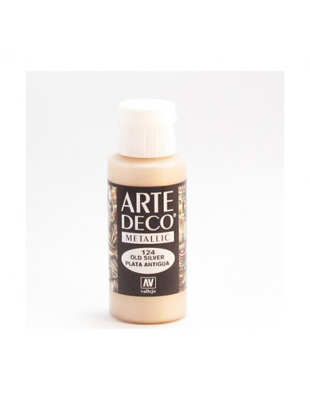 PINTURA ACRILICA ARTE DECO EN TUBO DE 60 ML IDEAL PARA BELLAS ARTES COLOR PLATA ANTIGUA