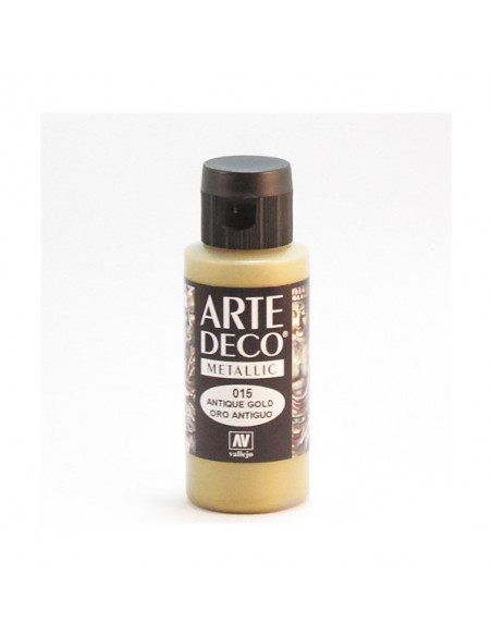 PINTURA ACRILICA ARTE DECO EN TUBO DE 60 ML IDEAL PARA BELLAS ARTES COLOR ORO ANTIGUO