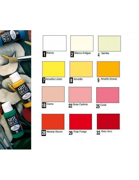 PINTURA ACRILICA DE VALLEJO MODELO ARTE DECO COLOR BLANCO MEDIO BOTE DE 60 ML COLORES OPACOS