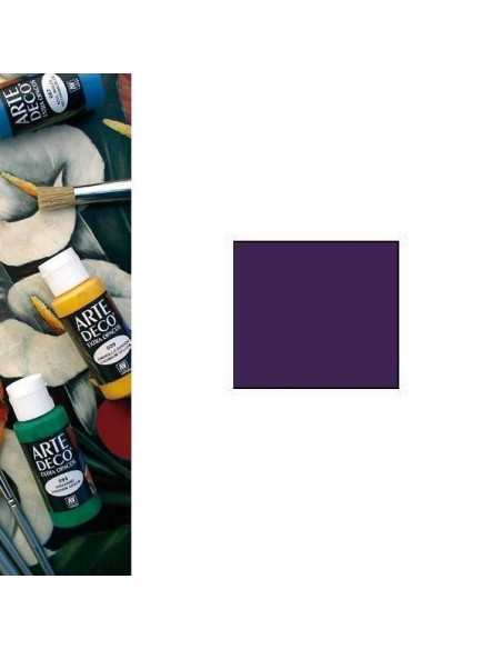 PINTURA ACRILICA DE VALLEJO MODELO ARTE DECO COLOR PURPURA BOTE DE 60 ML COLORES OPACOS