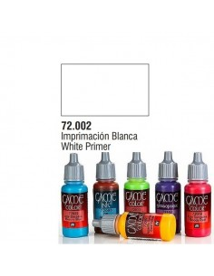 PINTURA ACRILICA DE COLOR IMPRIMACION BLANCO EN BOTE DE 17 ML PINTURA MODELO GAME COLOR