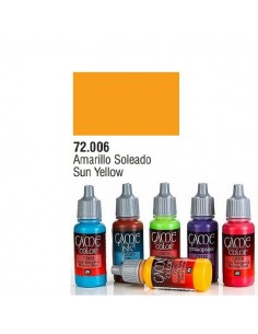 PINTURA ACRILICA DE COLOR AMARILLO SOLEA EN BOTE DE 17 ML PINTURA MODELO GAME COLOR