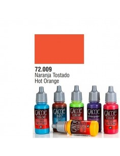 PINTURA ACRILICA DE COLOR NARANJA TOSTADO EN BOTE DE 17 ML PINTURA MODELO GAME COLOR