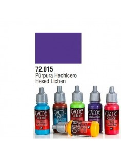PINTURA ACRILICA DE COLOR PURPURA HECHICERO EN BOTE DE 17 ML PINTURA MODELO GAME COLOR