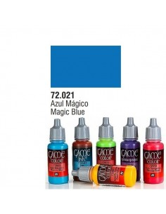 PINTURA ACRILICA DE COLOR AZUL MAGICO EN BOTE DE 17 ML PINTURA MODELO GAME COLOR