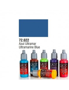 PINTURA ACRILICA DE COLOR AZUL ULTRAMARINO EN BOTE DE 17 ML PINTURA MODELO GAME COLOR