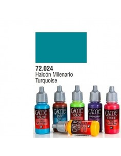 PINTURA ACRILICA DE COLOR HALCON MILENARIO EN BOTE DE 17 ML PINTURA MODELO GAME COLOR