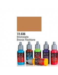 PINTURA ACRILICA DE COLOR BRONCEADO EN BOTE DE 17 ML PINTURA MODELO GAME COLOR