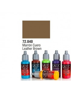 PINTURA ACRILICA DE COLOR MARRON CUERO EN BOTE DE 17 ML PINTURA MODELO GAME COLOR