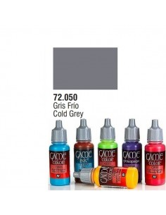 PINTURA ACRILICA DE COLOR GRIS FRIO EN BOTE DE 17 ML PINTURA MODELO GAME COLOR