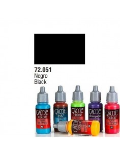 PINTURA ACRILICA DE COLOR NEGRO EN BOTE DE 17 ML PINTURA MODELO GAME COLOR