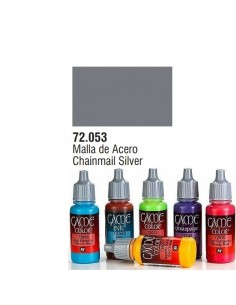 PINTURA ACRILICA DE COLOR MALLA DE ACERO EN BOTE DE 17 ML PINTURA MODELO GAME COLOR