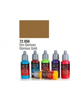 PINTURA ACRILICA DE COLOR ORO GLORIOSO EN BOTE DE 17 ML PINTURA MODELO GAME COLOR