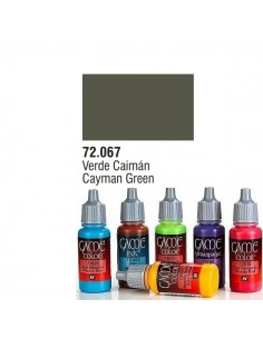 PINTURA ACRILICA DE COLOR VERDE CAIMAN EN BOTE DE 17 ML PINTURA MODELO GAME COLOR