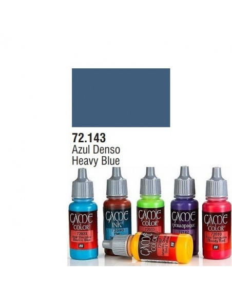 PINTURA ACRILICA DE COLOR AZUL DENSO EN BOTE DE 17 ML MODELO GAME COLOR DE VALLEJO