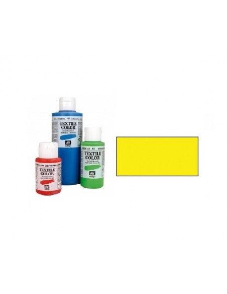 PINTURA DE COLOR AMARILLO MODELO TEXTIL COLOR BOTE DE 60 ML DE LA MARCA VALLEJO