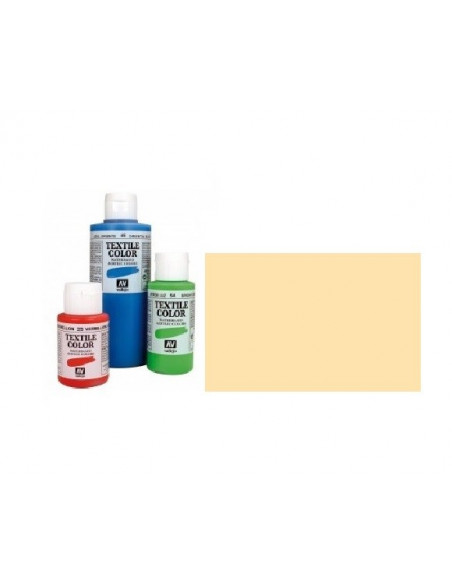 PINTURA DE COLOR BLANCO PASTEL BEIGE TEXTIL COLOR BOTE DE 60 ML DE LA MARCA VALLEJO