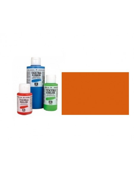 PINTURA DE COLOR NARANJA VIVO MODELO TEXTIL COLOR BOTE DE 60 ML DE LA MARCA VALLEJO