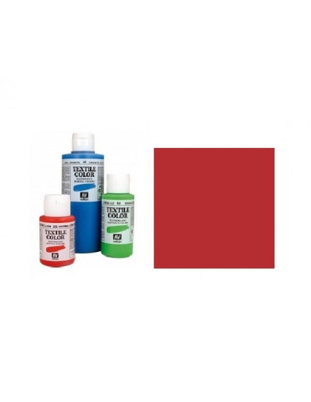 PINTURA DE COLOR ROJO MODELO TEXTIL COLOR BOTE DE 60 ML DE LA MARCA VALLEJO