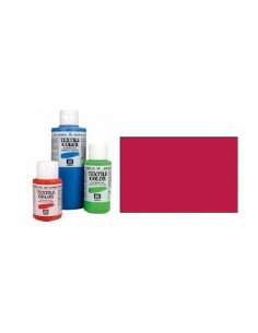 PINTURA DE COLOR BERMELLON MODELO TEXTIL COLOR BOTE DE 60 ML DE LA MARCA VALLEJO