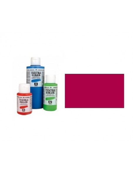 PINTURA DE COLOR CEREZA MODELO TEXTIL COLOR BOTE DE 60 ML DE LA MARCA VALLEJO