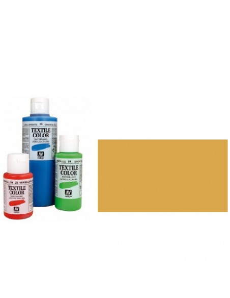 PINTURA DE COLOR OCRE MODELO TEXTIL COLOR BOTE DE 60 ML DE LA MARCA VALLEJO