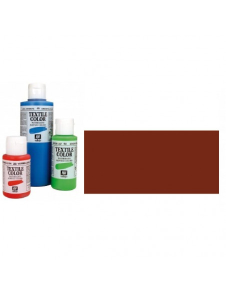 PINTURA DE COLOR SANGUINA MODELO TEXTIL COLOR BOTE DE 60 ML DE LA MARCA VALLEJO