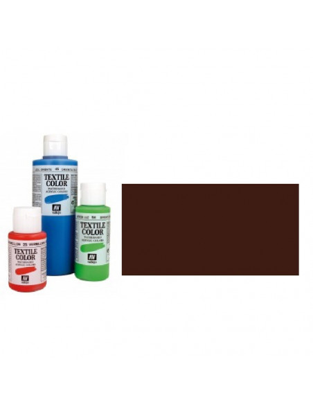 PINTURA DE COLOR MARRON MODELO TEXTIL COLOR BOTE DE 60 ML DE LA MARCA VALLEJO