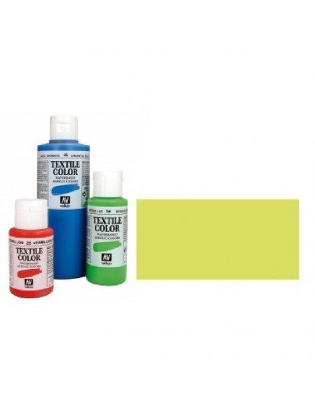 PINTURA DE COLOR AMARILLO METAL MODELO TEXTIL COLOR BOTE DE 60 ML DE LA MARCA VALLEJO