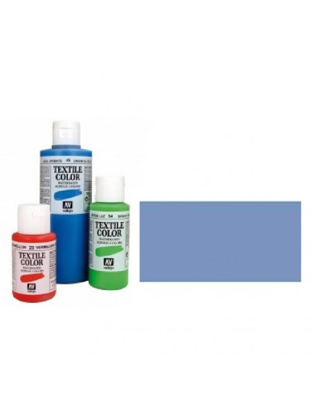 PINTURA DE COLOR AZUL METAL MODELO TEXTIL COLOR BOTE DE 60 ML DE LA MARCA VALLEJO