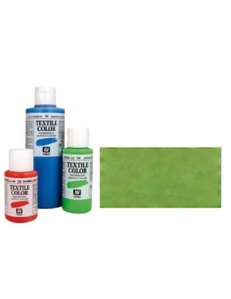 PINTURA DE COLOR VERDE METAL MODELO TEXTIL COLOR BOTE DE 60 ML DE LA MARCA VALLEJO