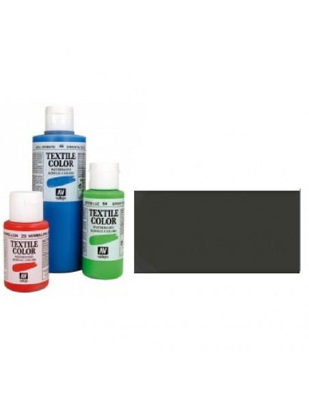 PINTURA DE COLOR NEGRO METAL MODELO TEXTIL COLOR BOTE DE 60 ML DE LA MARCA VALLEJO