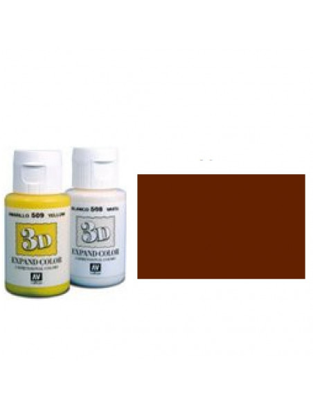 PINTURA TEXTIL DE COLOR MARRON CON BOTE DE 35 ML MODELO EXPAND COLOR DE LA MARCA VALLEJO EN 3D