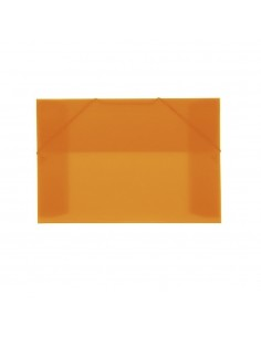 CARPETA CON GOMAS Y SOLAPAS EN FORMATO A4 OFFICE BOX COLOR NARANJA