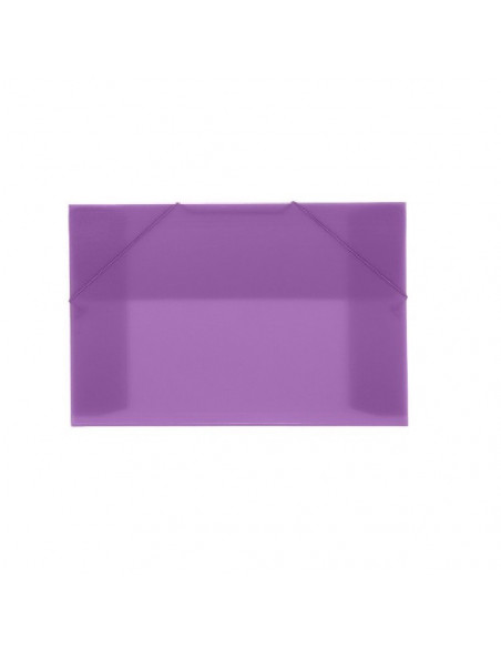 CARPETA CON GOMAS Y SOLAPAS EN FORMATO A4 OFFICE BOX COLOR MORADO