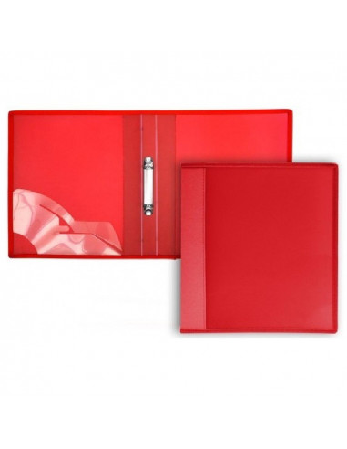 CARPETA DE 2 ANILLAS CON TAPAS EXTRA RIGIDAS TAMAÑO A4 OFFICE BOX COLOR ROJO