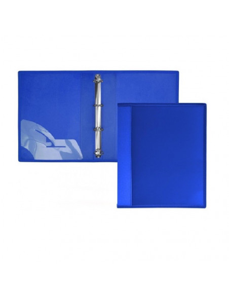 CARPETA DE 4 ANILLAS SUPRA TAPAS EXTRA RIGIDAS EN FORMATO A4 OFFICE BOX COLOR AZUL