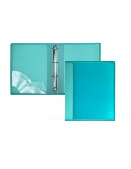CARPETA DE 4 ANILLAS SUPRA TAPAS EXTRA RIGIDAS EN FORMATO A4 OFFICE BOX COLOR VERDE