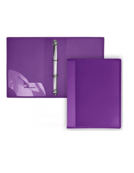 CARPETA DE 4 ANILLAS SUPRA TAPAS EXTRA RIGIDAS EN FORMATO A4 OFFICE BOX COLOR MORADO