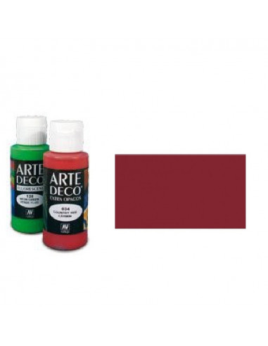 PINTURA ACRILICA ARTE DECO EN TUBO DE 60 ML IDEAL PARA BELLAS ARTES COLOR BURDEOS