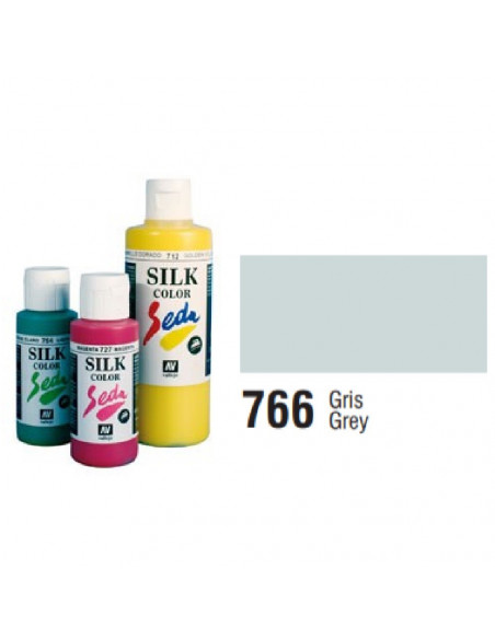SILK COLOR BASIC COLOR GRIS BOTE DE 60 ML CON TAPON BISAGRA DE LA MARCA VALLEJO