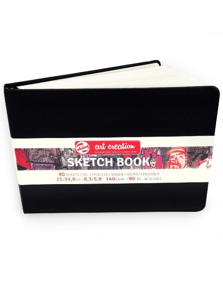 BLOC DE DIBUJO TALENS ART CREATION SKETCH BOOK CON 80 HOJAS COLOR NEGRO 21X14,8 CM 160 G