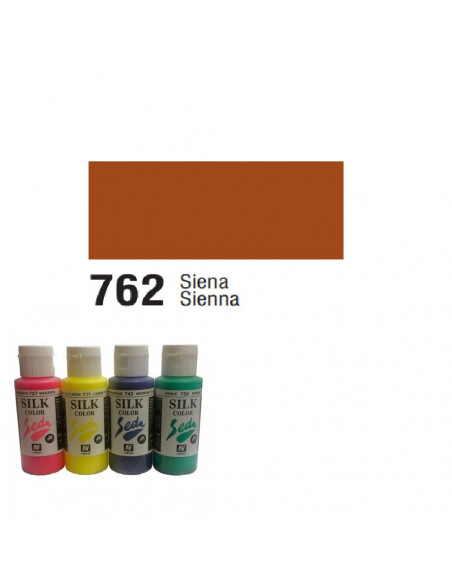 SILK COLOR BASIC COLOR SIENA BOTE DE 60 ML CON TAPON BISAGRA DE LA MARCA VALLEJO